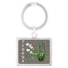 Bamboo and Lily Taurus Landscape Keychain