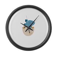 Baby Stegoceras Dinosaur Large Wall Clock