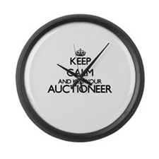 Keep calm and kiss your Auctionee Large Wall Clock