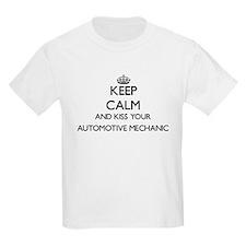 Keep calm and kiss your Automotive Mechani T-Shirt