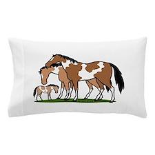 Happy Indian Horses Pillow Case