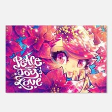 peace joy love Postcards (Package of 8)