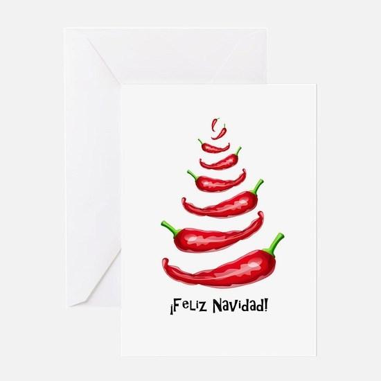 FelizNavidadChiliTree Greeting Cards