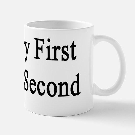 Chemistry First Sleeping Second  Mug
