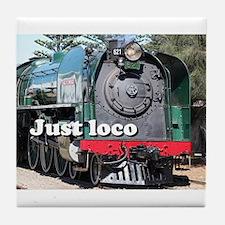 Just loco: steam locomotive, Goolwa, Tile Coaster