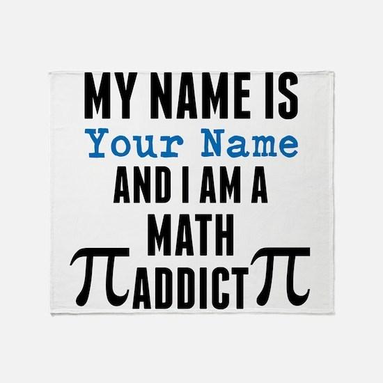 Math Addict Throw Blanket