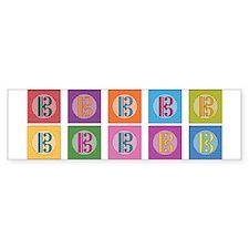 Pop Art Alto Clef C-Clef Bumper Bumper Sticker