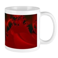 Red Fusions Fractal Art Mugs