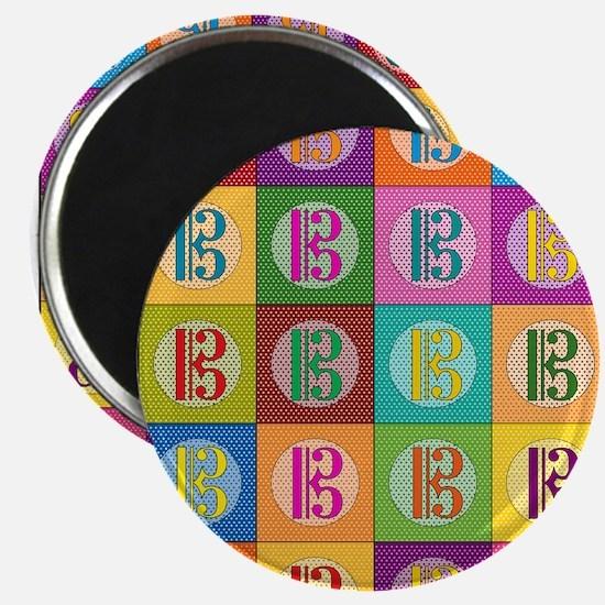 Pop Art C-Clef Alto Clef Magnets