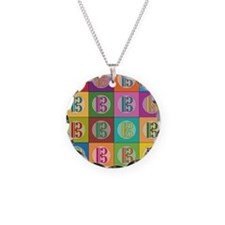 Pop Art C-Clef Alto Clef Necklace Circle Charm