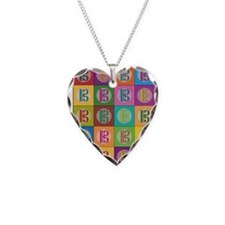 Pop Art C-Clef Alto Clef Necklace Heart Charm