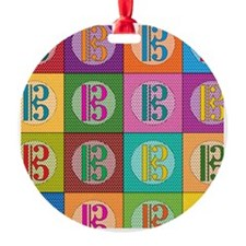 Pop Art C-Clef Alto Clef Ornament