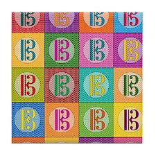 Pop Art C-Clef Alto Clef Tile Coaster