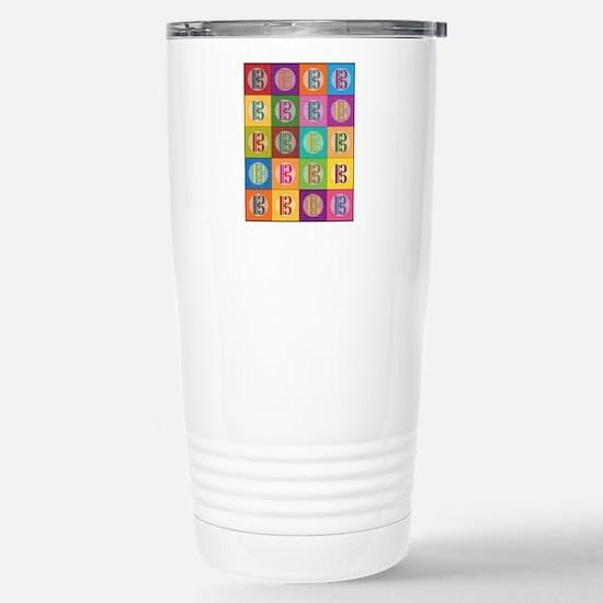 Pop Art C-Clef Alto Cle Stainless Steel Travel Mug