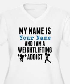 Weightlifting Addict Plus Size T-Shirt