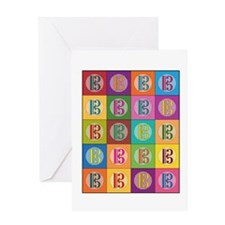 Pop Art C-Clef Alto Clef Greeting Cards