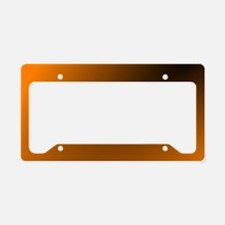 Orange and Black License Plate Holder