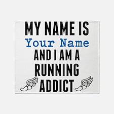 Running Addict Throw Blanket