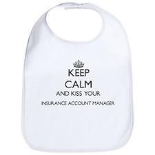 Keep calm and kiss your Insurance Account Mana Bib