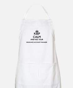 Keep calm and kiss your Insurance Account Ma Apron