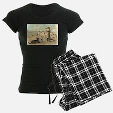 Cats at the Beach, Vintage Art Poster Pajamas