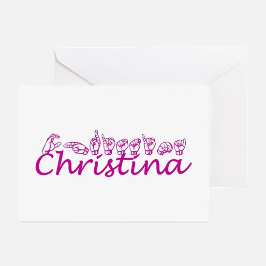 Christina Greeting Cards (Pk of 10)