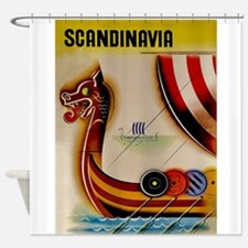 Scandinavia, Viking Ship, Vintage Travel Poster Sh