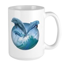 Waves of Dolphins Mug