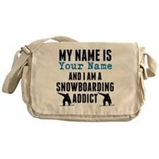 Snowboarding Addict Messenger Bag