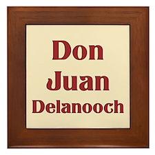JAYSILENTBOB DON JUAN DELANOOCH Framed Tile
