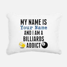 Billiards Addict Rectangular Canvas Pillow