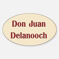 JAYSILENTBOB DON JUAN DELANOOCH Sticker (Oval)