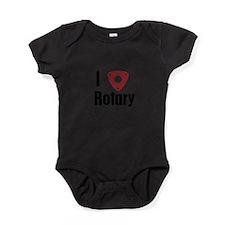 I Love Rotary Baby Bodysuit