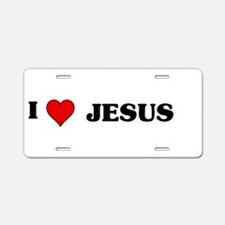 Unique I heart jesus Aluminum License Plate
