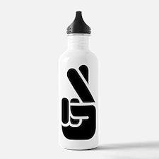 Finger Crossed Water Bottle