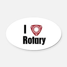 I Love Rotary Oval Car Magnet