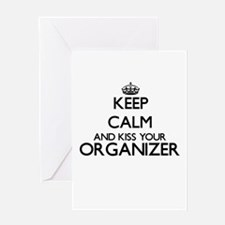 Keep calm and kiss your Organizer Greeting Cards