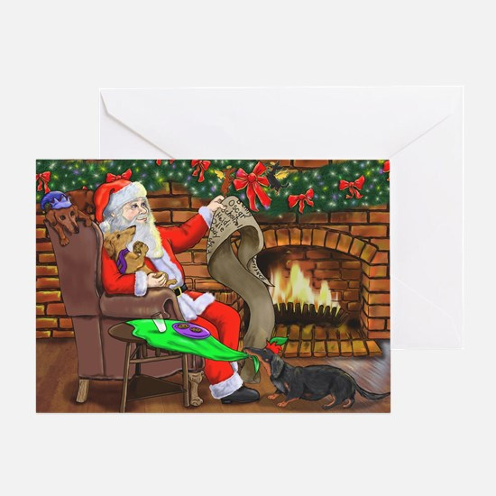 Santa's Dachshund Helpers Greeting Cards