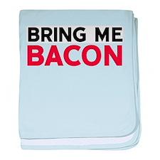 Bring Me Bacon baby blanket