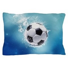 Soccer Water Splash Pillow Case