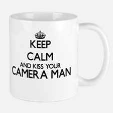 Keep calm and kiss your Camera Man Mugs