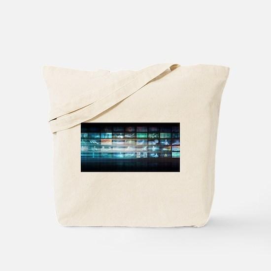 Futuristic Technology with Future Tech Ab Tote Bag