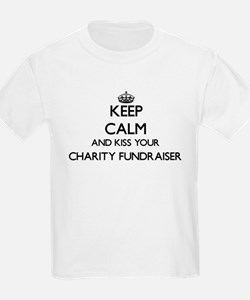 Keep calm and kiss your Charity Fundraiser T-Shirt