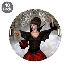 """Beautiful Witch 3.5"""" Button (10 pack)"""