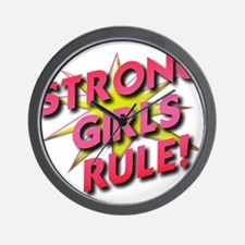 Strong Girls Rule! Wall Clock
