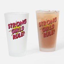 Strong Girls Rule! Drinking Glass