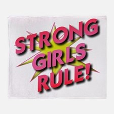 Strong Girls Rule! Throw Blanket