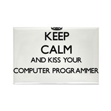 Keep calm and kiss your Computer Programme Magnets