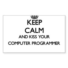 Keep calm and kiss your Computer Programme Decal