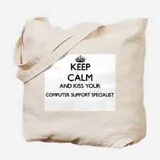 Keep calm and kiss your Computer Support Tote Bag